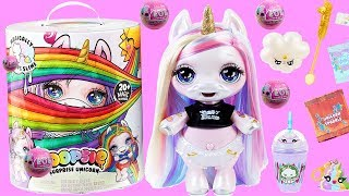 Rainbow Unicorn Baby Surprise with DIY LOL Dolls Pooey Slime