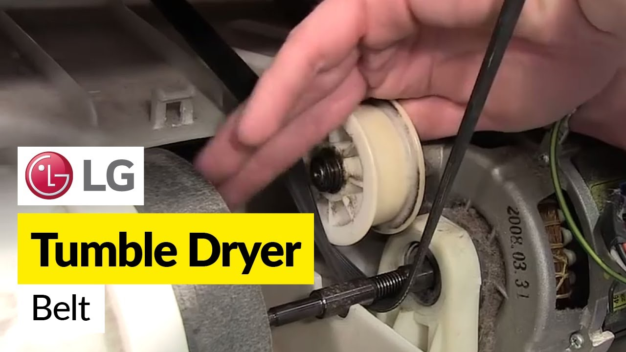How To Replace A Tumble Dryer Drive Belt Lg Youtube