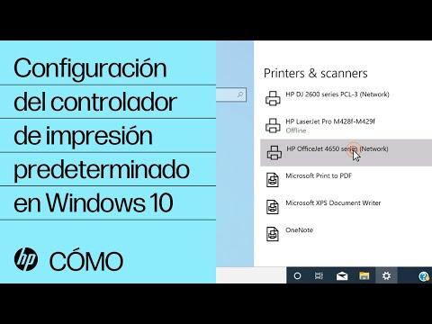 Configuración del controlador de impresión predeterminado en Windows 10 | HP Computers | HP