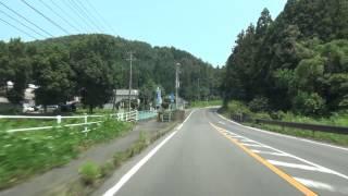 福島県道11号 01 白河石川線 白河→石川 車載