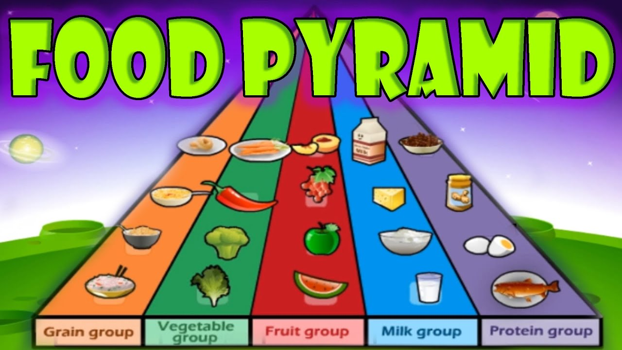 Nutrition food pyramid healthy eating educational videos for kids funny game children youtube also rh