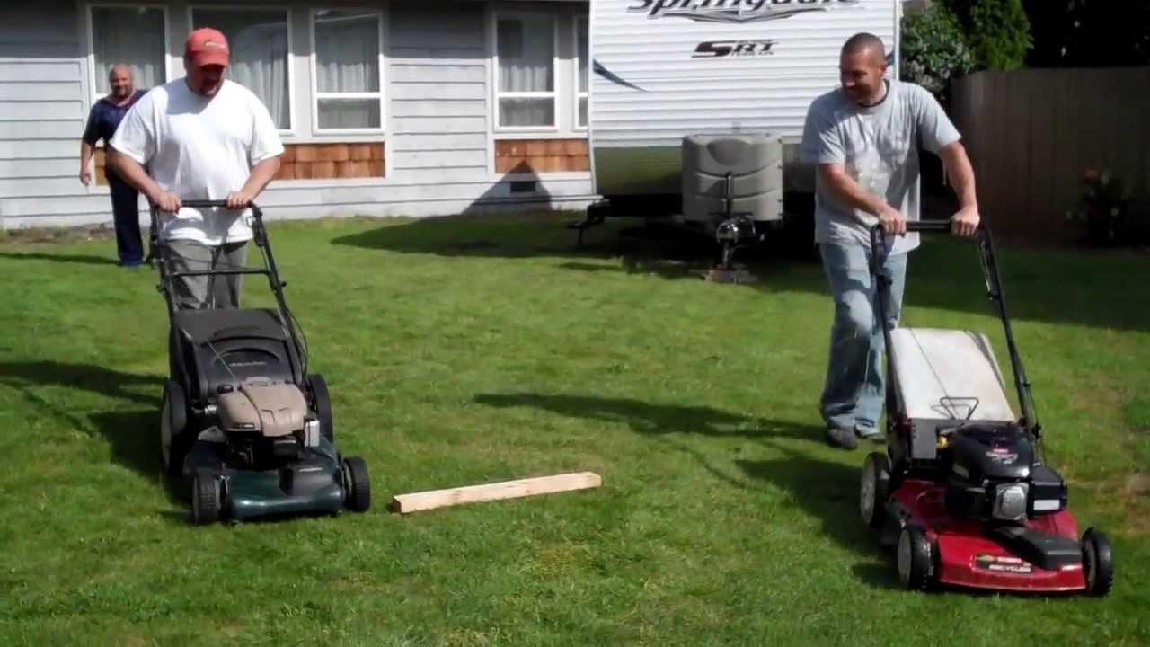 Redneck Lawnmower Races Toro Vs Craftsman Youtube