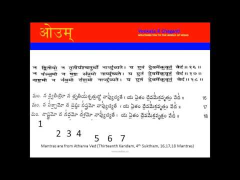 Number System From Atharva Veda 13 4