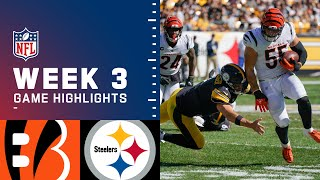 Bengals vs. Steelers Week 3 Highlights | NFL 2021