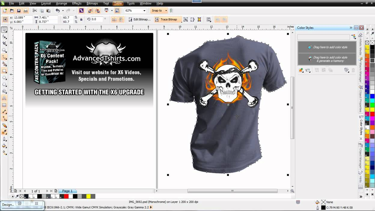 Design t shirt corel draw - Introduction To Coreldraw X6 Color Styles