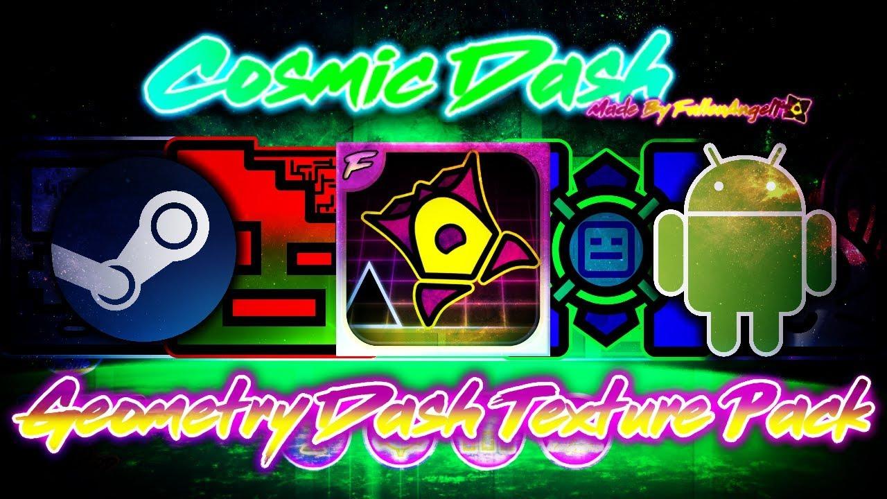 geometry dash neon texture pack скачать