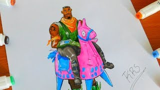Fortnite Drawing Giddy Up Skin! Season 6 Battle pass