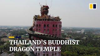 Thailand's Buddhist dragon temple, Wat Samphran