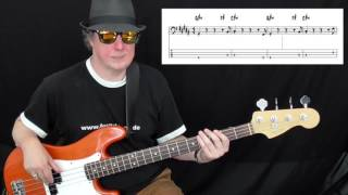 10cc - Dreadlock Holiday (Bass cover with tabs in video)