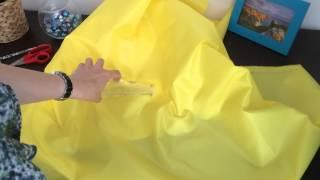 Ткань Оксфорд 200D PU 1000, желтый
