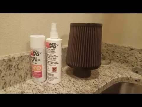 How To Clean Your Cars Air Filter- K&N Recharge Kit
