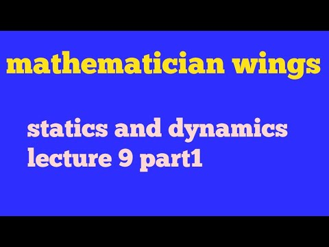 Kinematic, dynamics and statics bsc 2nd year in hindi,bsc maths dynamics lecture9 part1