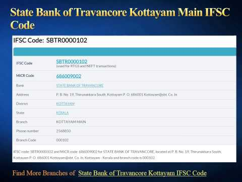 State Bank of Travancore IFSC Code