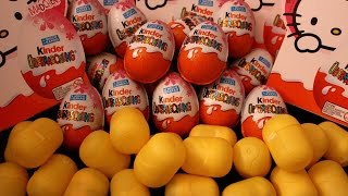 Girls Kinder Surprise Eggs ❤ oua Kinder cu Surprize Ovo Huevitos Sorpresa キンダーサプライズ 健達出奇蛋 킨더 서프라이즈