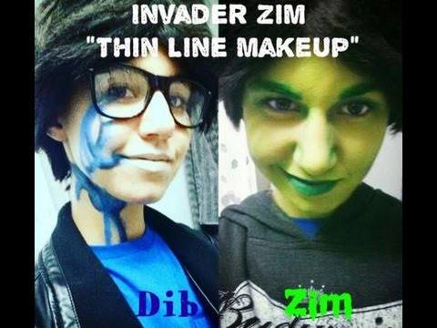 ".:Invader Zim ""Thin Line"" Makeup:."