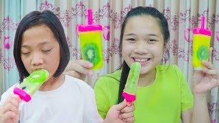 Cách Làm Kem Kiwi ❤ DIY Kiwi Ice Cream - Trang Vlog