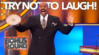 TRY NOT TO LAUGH! FUNNY MOMENTS & ANSWERS ON Family Feud With Steve Harvey