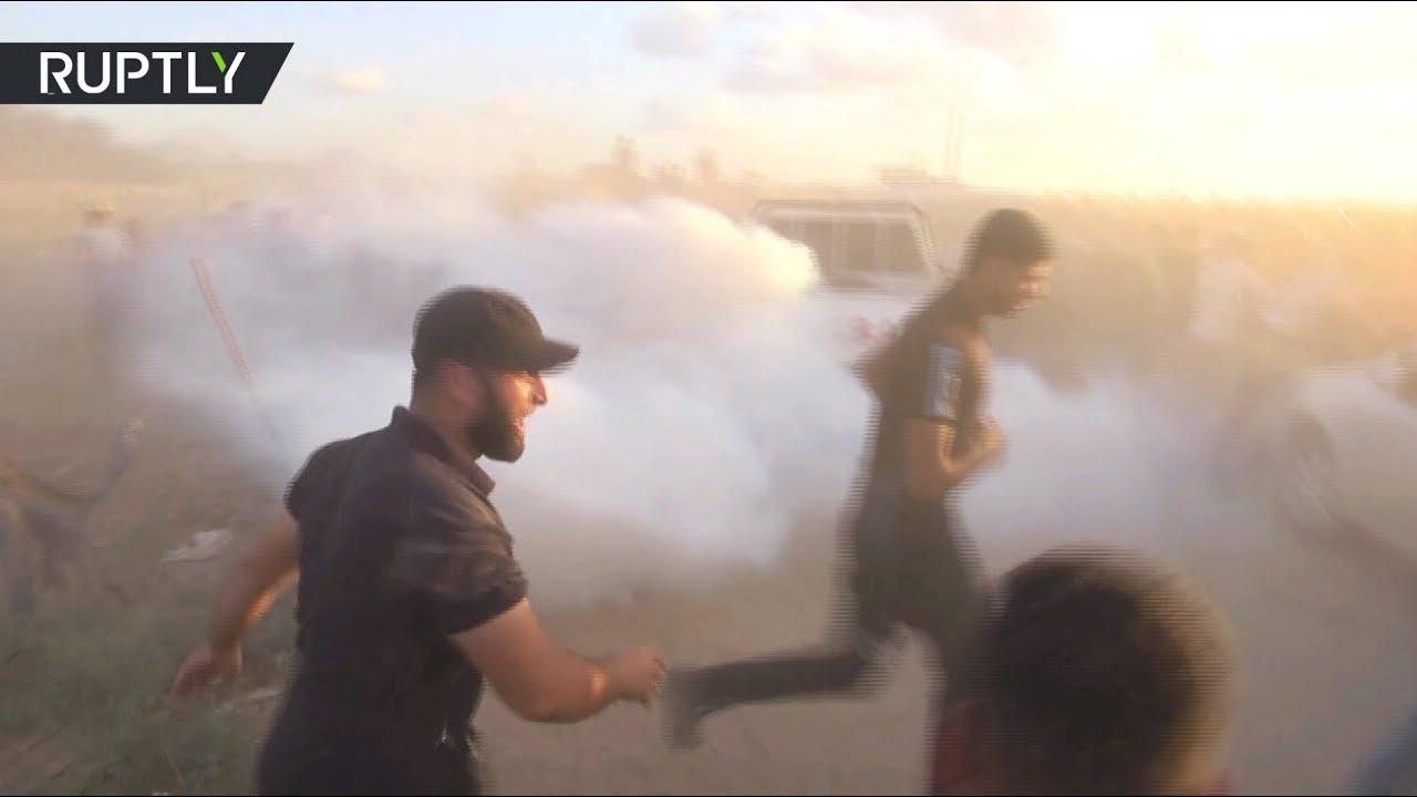 Израильский беспилотник со слезоточивым газом взорвался при его захвате палестинцами