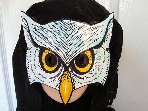 How To Make An Owl Mask Halloween Masquerade Carnival