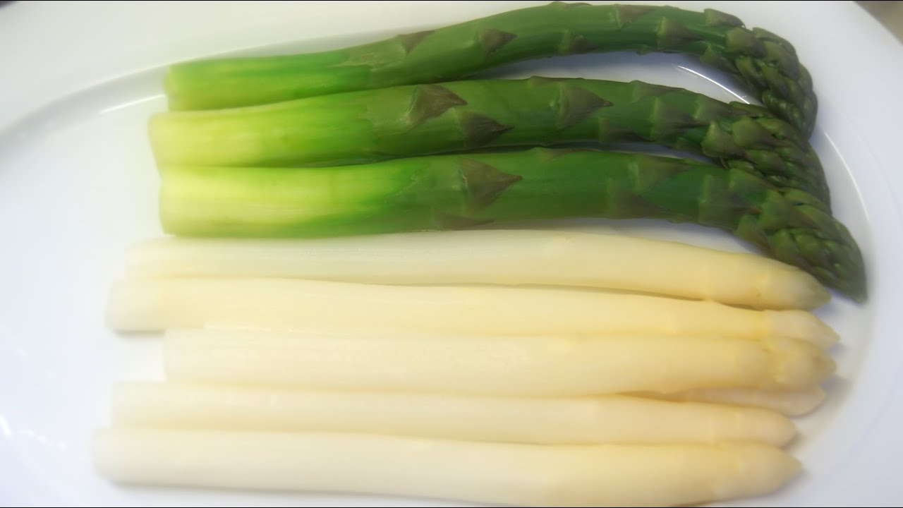 Kochvideo Weißen Und Grünen Spargel Richtig Kochen Youtube