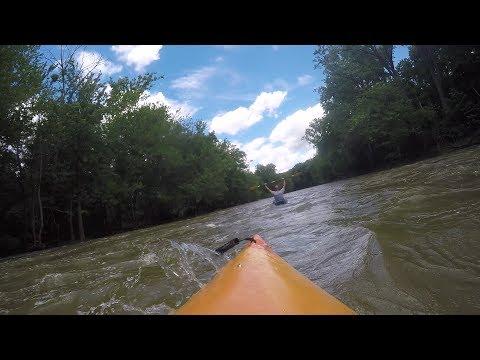 Kayaking the Wabash River in Huntington County Indiana