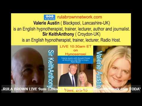VALERIE AUSTIN & Sir KeithAnthony w/ Hypnosensei- Health & cancer cures, speed reading and hypnosis