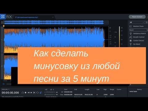Как сделать минусовку из любой песни за 5 минут