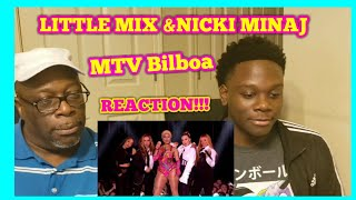 Nicki Minaj, Little Mix Women Like Me - MTV EMA 2018 Performance REACTION