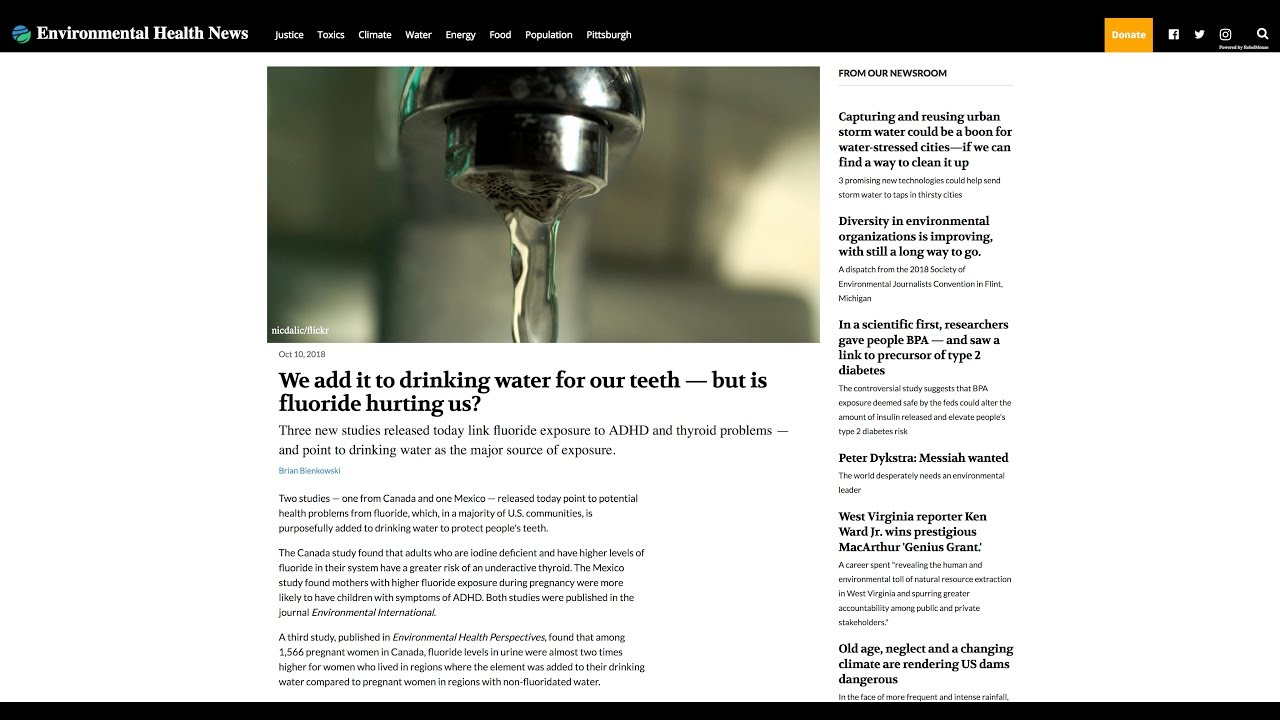 Higher Levels Of Urinary Fluoride >> Fluoride Action Network Breaking Three New Studies Link Fluoride