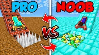 Minecraft NOOB vs. PRO : SWAPPED SLIDE TRAP in Minecraft (Compilation)