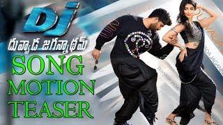 Dj duvvada jagannadham second song motion teaser || latest news || top telugu media