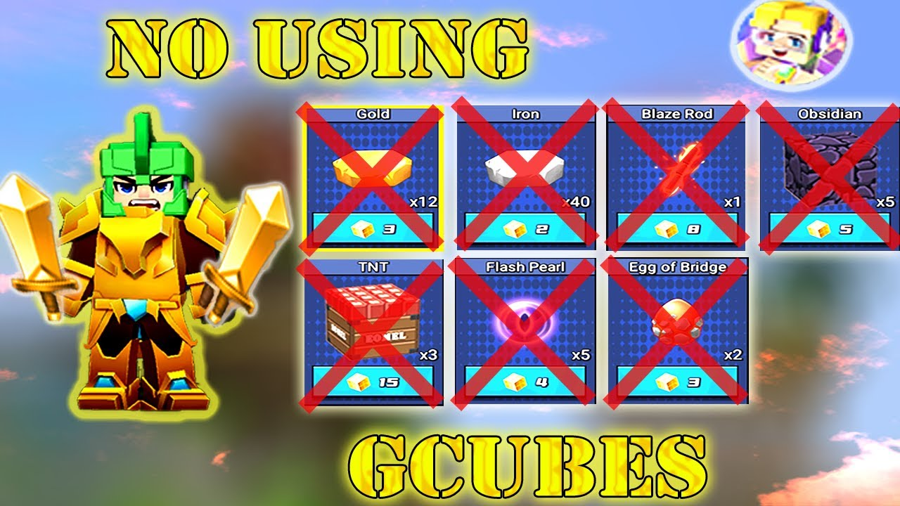 NO USING GCUBES In Bed Wars | Blockman Go Gameplay (Android , iOS)