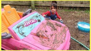 Disney Cars BARBIE Car Wash by Sam and Abby
