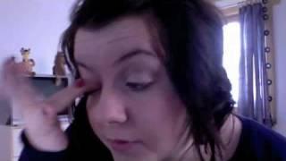 makijaz na sylwestra - neutralny brzoskwiniowy smokey eye + brokat turkusowy - MAC i Inglot Thumbnail