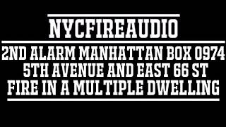 NYCFireAudio - FDNY Manhattan 2nd Alarm Box 0974 Audio - Fire in A Multiple Dwelling - 12/9/18