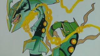 Prismacolor speed draw Mega Rayquaza