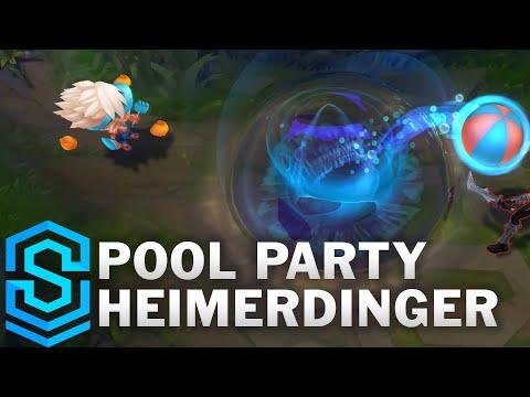 Pool Party Heimerdinger Skin Spotlight - League of Legends