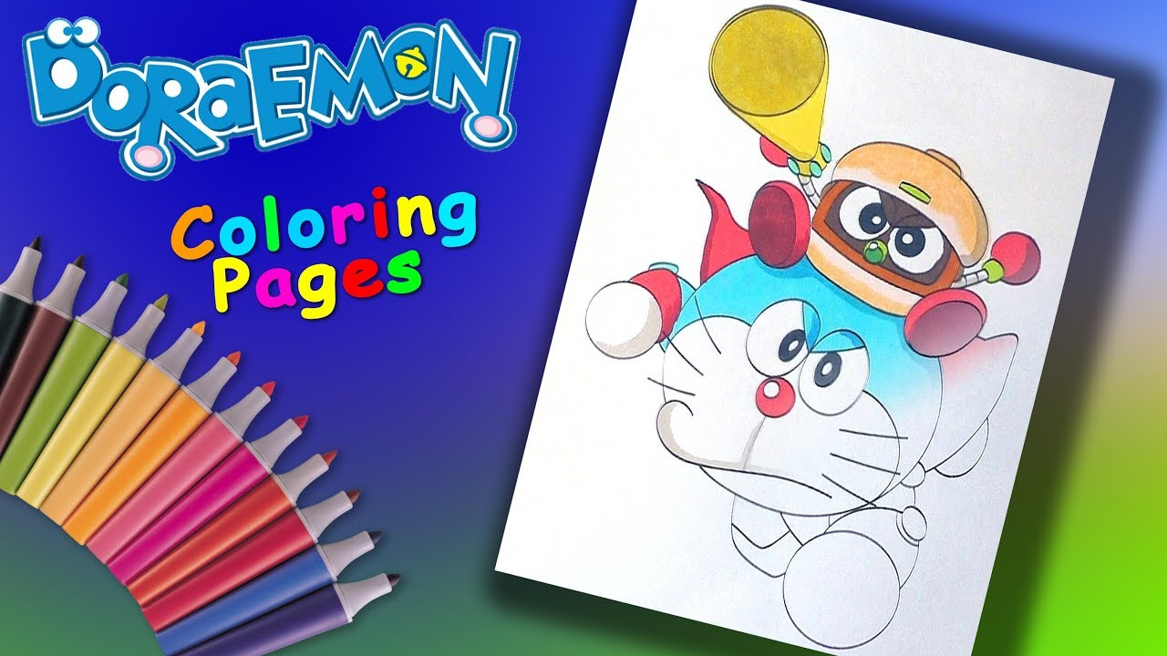 Doraemon Nobita S Space Heroes Coloringpage Forkids Doraemon Éラえもん Coloring Book Youtube