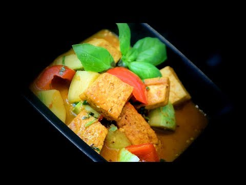 Lime-Curry Tofu Stir-Fry (Chinese Vegetarian Recipe)