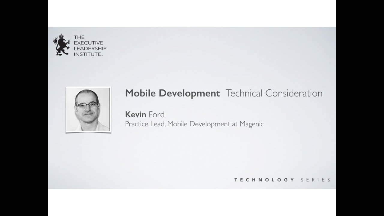 Mobile Development: Technical Consideration