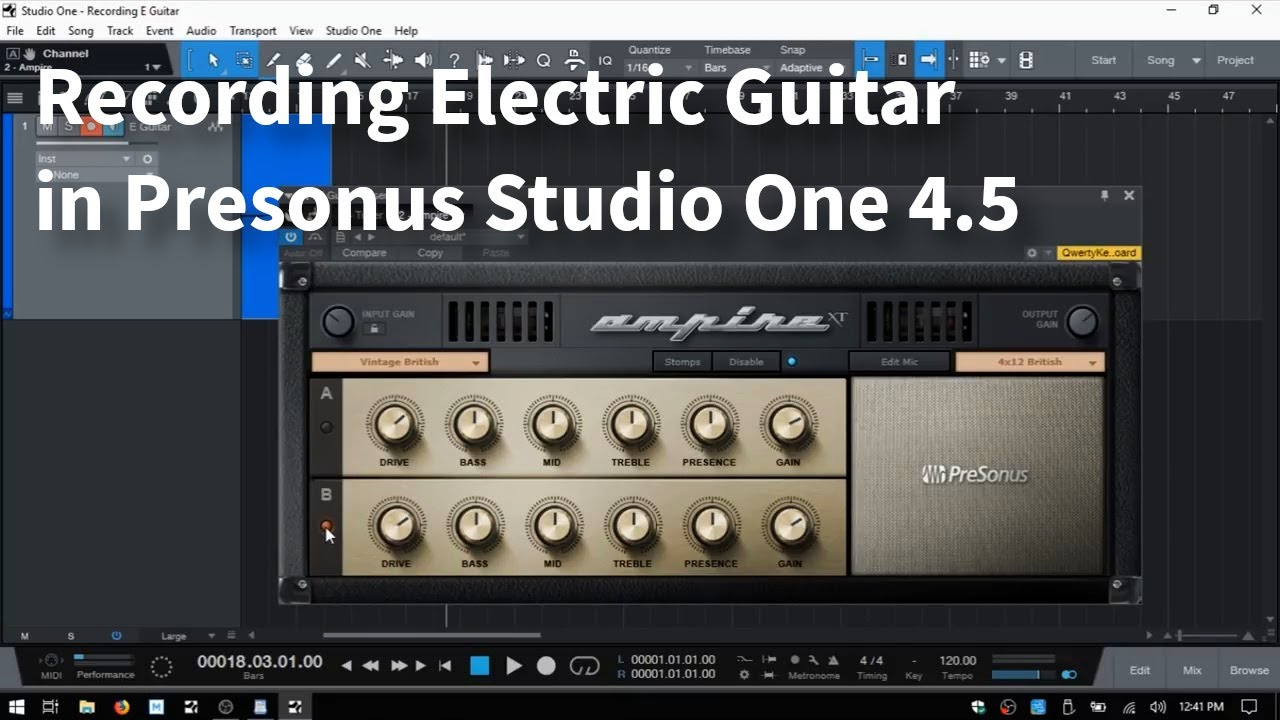 how to record on studio one