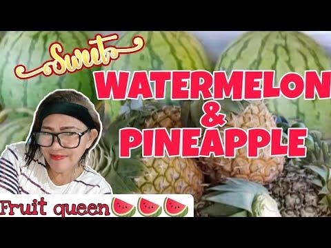 FRESH WATERMELON AND PINEAPPLE DELIVERY & ARRANGEMENT   Fruit Queen🍉🍉🍉