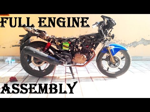 TIMELAPSE..Karizma ZMR Motorcycle FULL Engine Breakdown at Home and Repair Part 2 Assembly