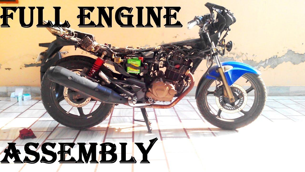 Timelapsekarizma Zmr Motorcycle Full Engine Breakdown At Home And Wiring Diagram Honda Karisma Karizma Repair Part 2 Assembly