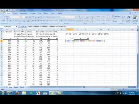 How to calculate a regression equation, R Square, Using ...