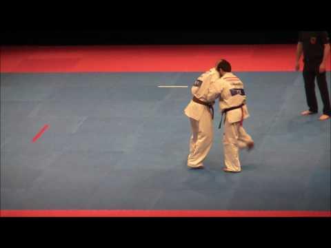 EC2017 Kumite Men  65 kg semi finale Emin Ismayilli Azerbaijan AKA Vs Karczub Zalán Hungary SHIRO