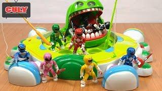 8 Anh em siêu nhân thi câu cá đồ chơi trẻ em - power rangers funny story play fishing toy game