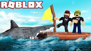 WE ARE HUNTED BY A SHARK! / ROBLOX SHARKBITE