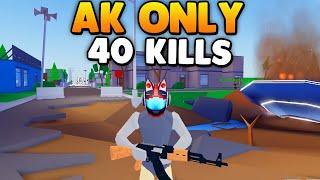 J'ai donc décidé d'utiliser AK seulement est devenu un Dieu . Strucid Roblox