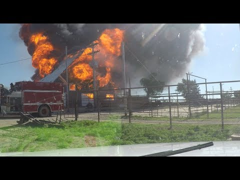 Rolling Hills Ranch barn fire from dad